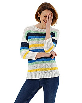 Multi Textured Stripe Jumper