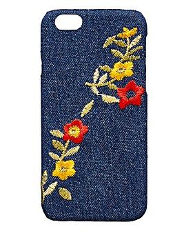 Embroidered Denim iPhone 6 Case