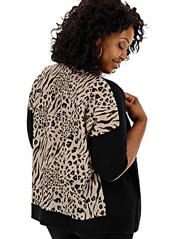 Leopard Woven Back Cardigan