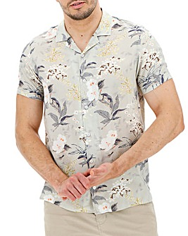 Summer Floral Short Sleeve Shirt Long