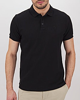 Black Embroidered Polo Long