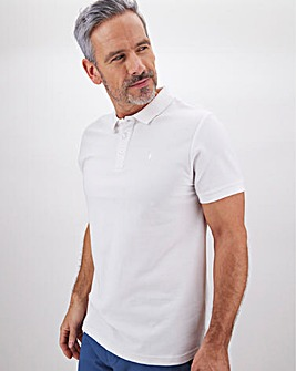 White Embroidered Polo Long