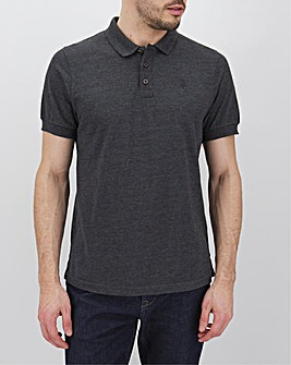 Charcoal Embroidered Polo Long
