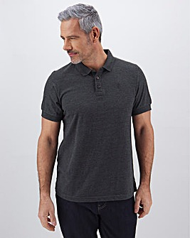 Charcoal Embroidered Polo