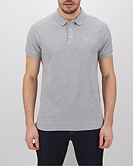Grey Marl Embroidered Polo
