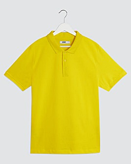 Yellow Embroidered Polo