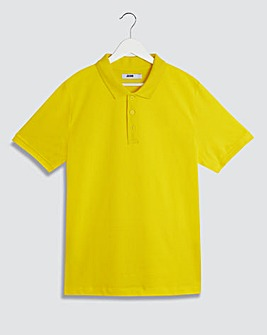 Yellow Embroidered Polo Long