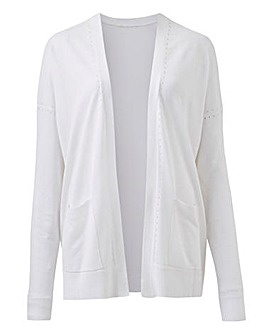 White Lightweight Edge to Edge Cardigan