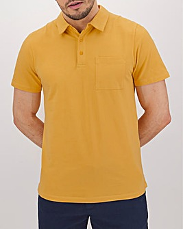 Ochre Stretch Jersey Polo Long