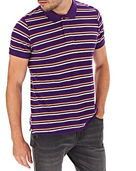 Fine Stripe Purple Polo Long