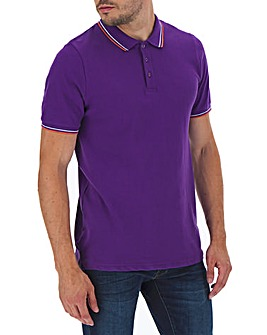 Tipped Short Sleeve Polo Shirt Long