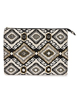 Joanna Hope Embroidered Clutch Bag