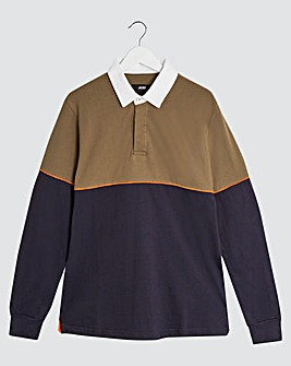 Rugby Style Long Sleeve Polo Shirt