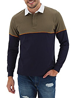 Rugby Style Long Sleeve Polo Shirt Long