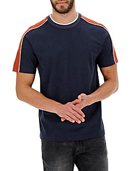 Navy Cut & Sew T-shirt