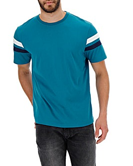 Teal Sleeve Stripe T-shirt Long