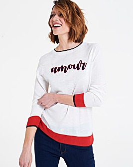 Amour Slogan Jumper