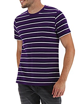Pique Purple Stripe T-shirt Long