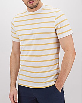 Breton Stripe Crew Neck T-Shirt Long