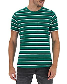 Pique Green Stripe T-shirt Long