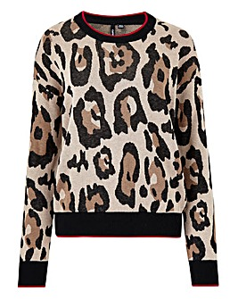 Leopard Crew Neck Co-Ord Jumper