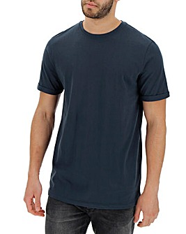 Navy Roll Sleeve T-shirt