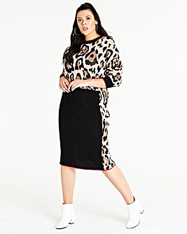 Leopard Co-Ord Skirt
