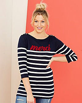 Merci Slogan Tunic