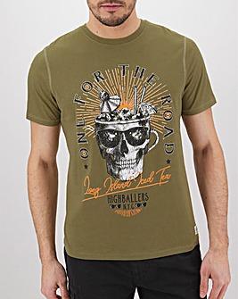Skull Highballer Graphic T-Shirt Long