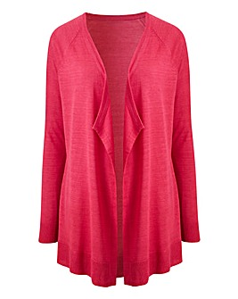 Fuchsia Linen Waterfall Cardigan
