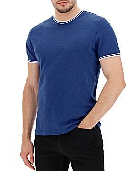 Cobalt Slub Fabric Ring T-Shirt