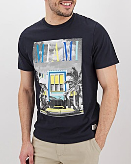 Miami Graphic Print T-Shirt Long
