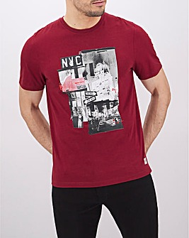 New York Cityscape Graphic T-Shirt Long