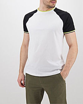 Contrast Sleeve Raglan T-Shirt Long