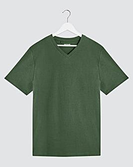 Pine Green V Neck T-Shirt