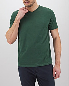 Pine Green V Neck T-Shirt Long