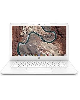 """HP 14"""" Chromebook Intel 4GB 32GB Bundle"""
