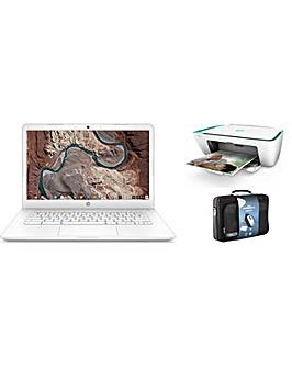 "HP 14"" Chromebook Intel 4GB 32GB + Case"