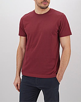 Red Crew Neck T-Shirt Long