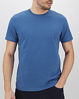 Denim Blue Crew Neck T-Shirt Long