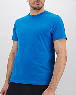 Bright Blue Crew Neck T-Shirt Long
