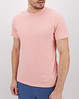 Pink Crew Neck T-Shirt Long
