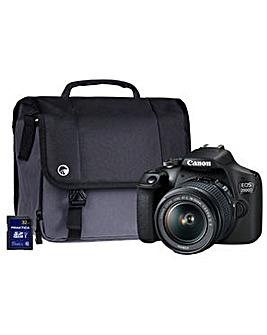 Canon EOS 2000D SLR Black Camera Kit