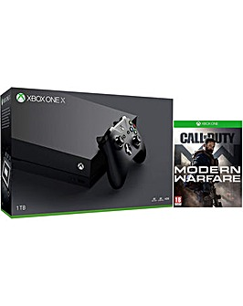 XB1 X and Call of Duty Modern Warfare