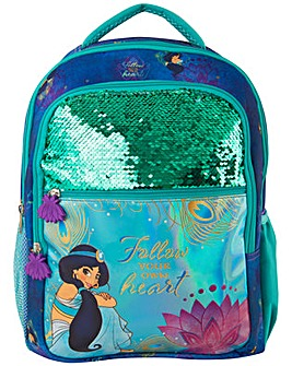 Disney Princess Jasmine Sequin Backpack