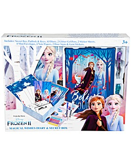 Disney Frozen 2 Wishes Diary & Box Set Including Pens, Stickers Envelops