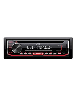 JVC KD-T402 Car Stereo CD Receiver with USB, AUX Input