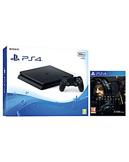 PS4 500GB Black and Death Stranding Game
