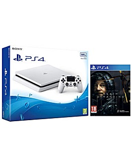 PS4 500GB White and Death Stranding Game