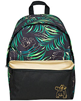 Disney Lion King Black And Gold Backpack